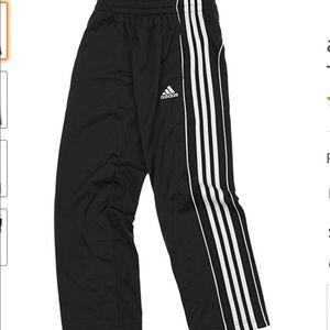 NWT Adidas 18XL Boys logo track pants Black
